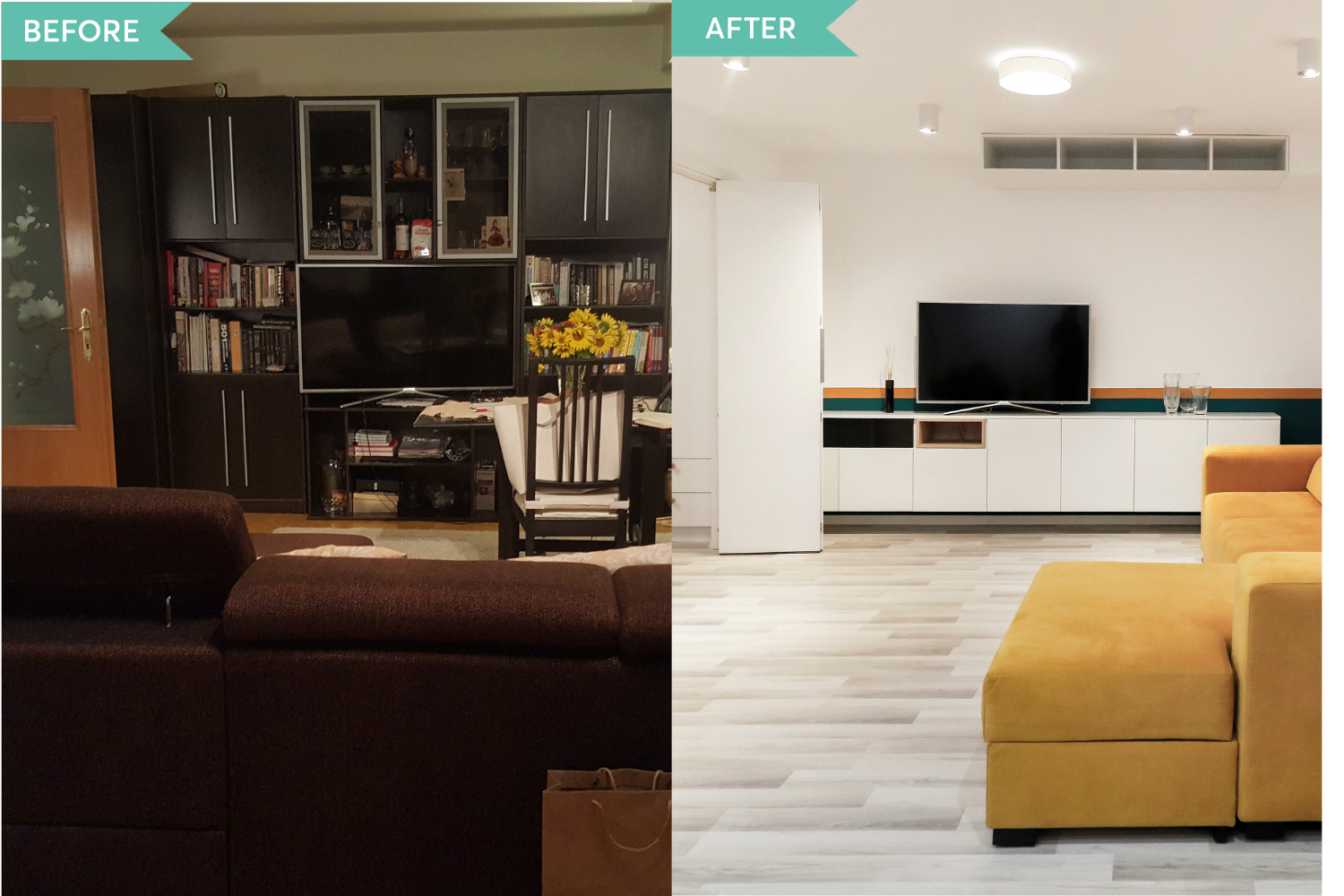 Before and after apartament Alex Calin (1)