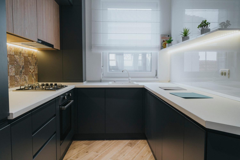 Bucătărie amenajare apartament de inchiriat Oradea - AIDO Studio Design