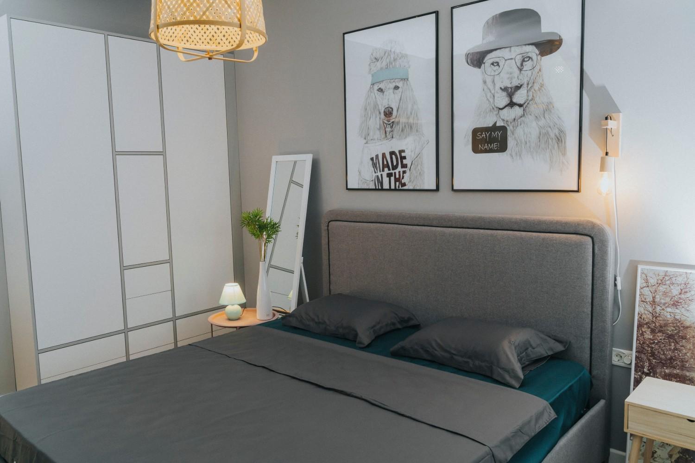 Dormitor gri - apartament de inchiriat Oradea - AIDO Studio Design
