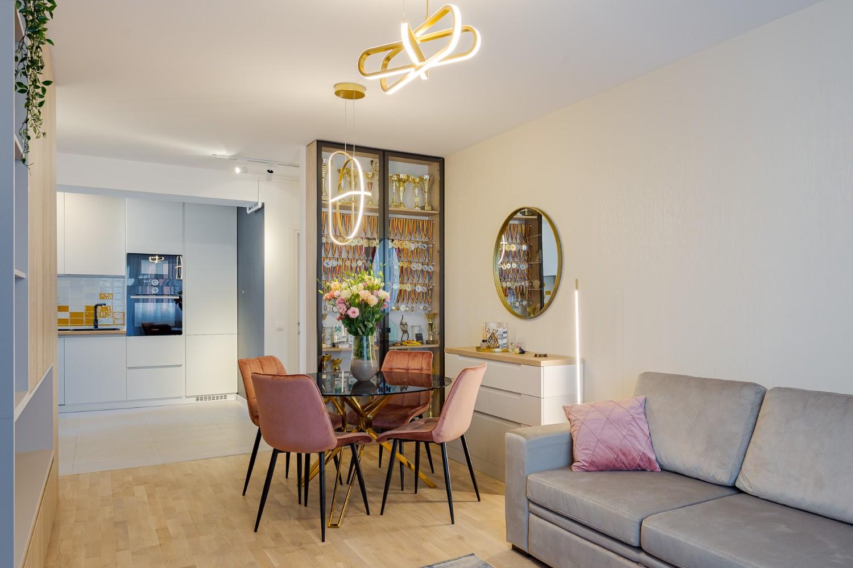 Open space în apartament nou, amenajat de arh. Cristiana Zgripcea