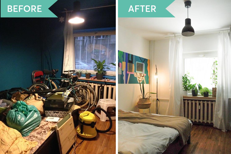 idei amenajare dormitor before&after