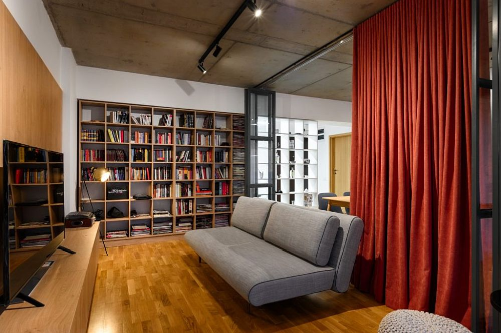 amenajare stylish bibliotecă