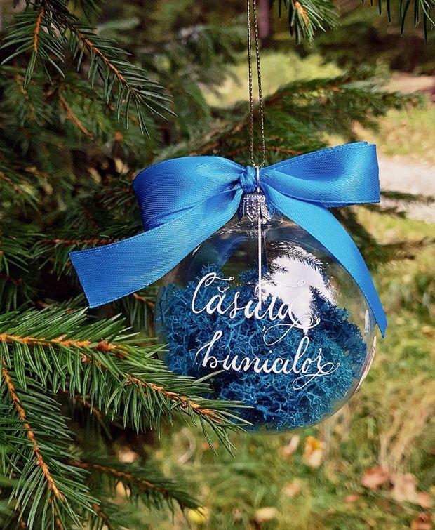 globuri de Crăciun deosebite albastre