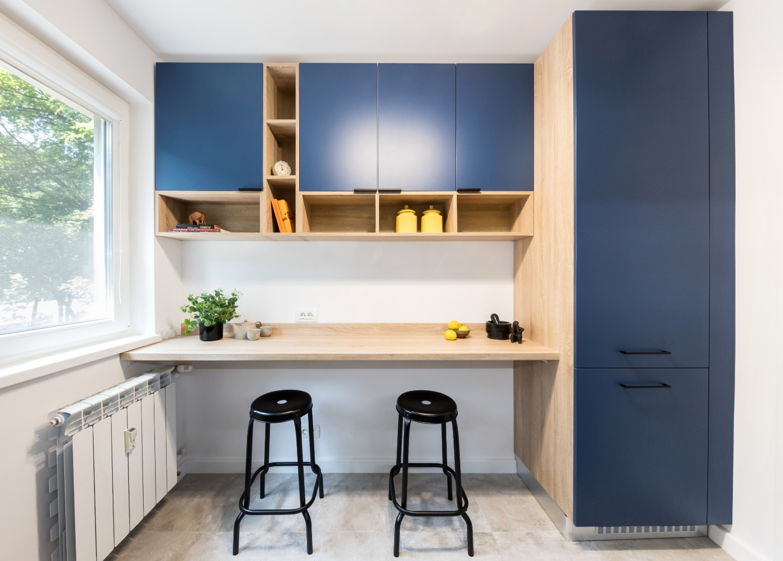 Renovare apartament Militari Vim Studio - bucătărie albastră (2)