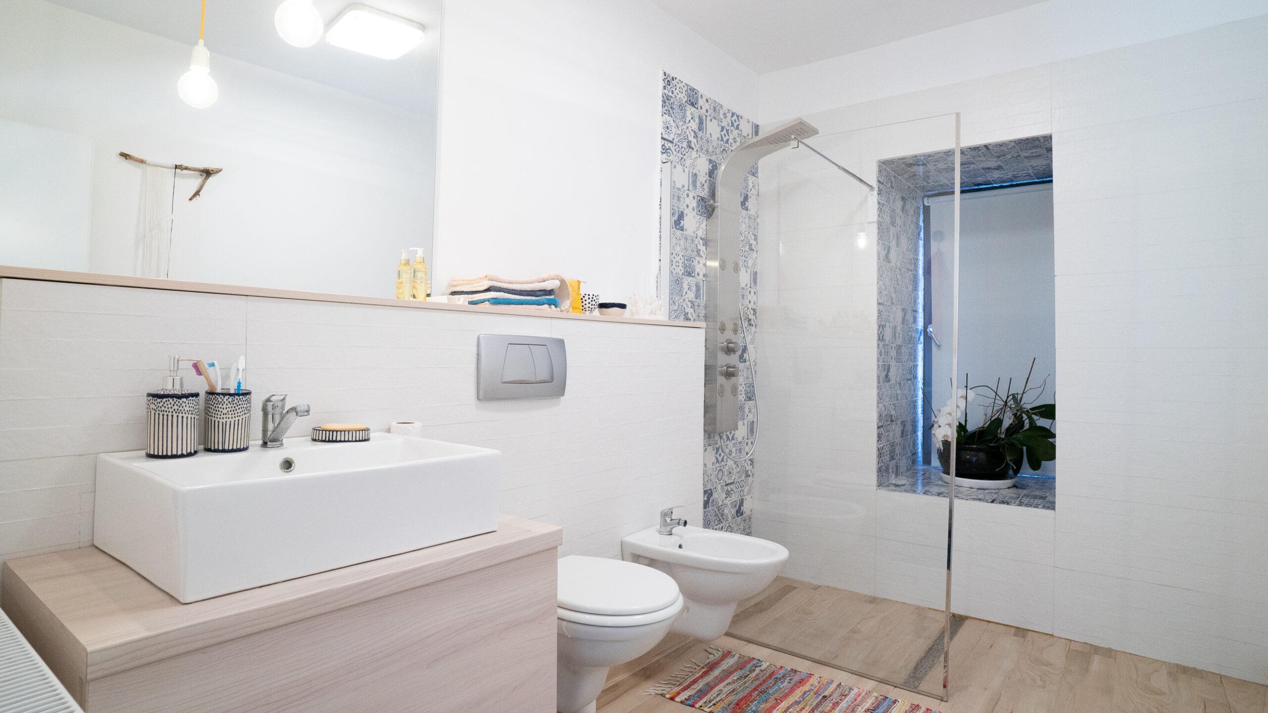 amenajare casă Izvorani baie duș oglindă