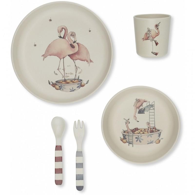cadouri mos nicolae copii set de masa flamingo