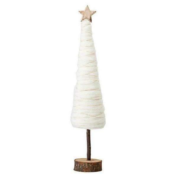 ornamente craciun bradut din lemn si lana