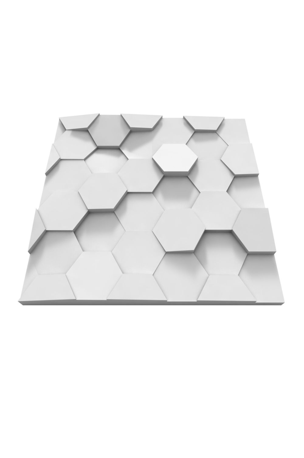 panou decorativ 3d placi hexagonale