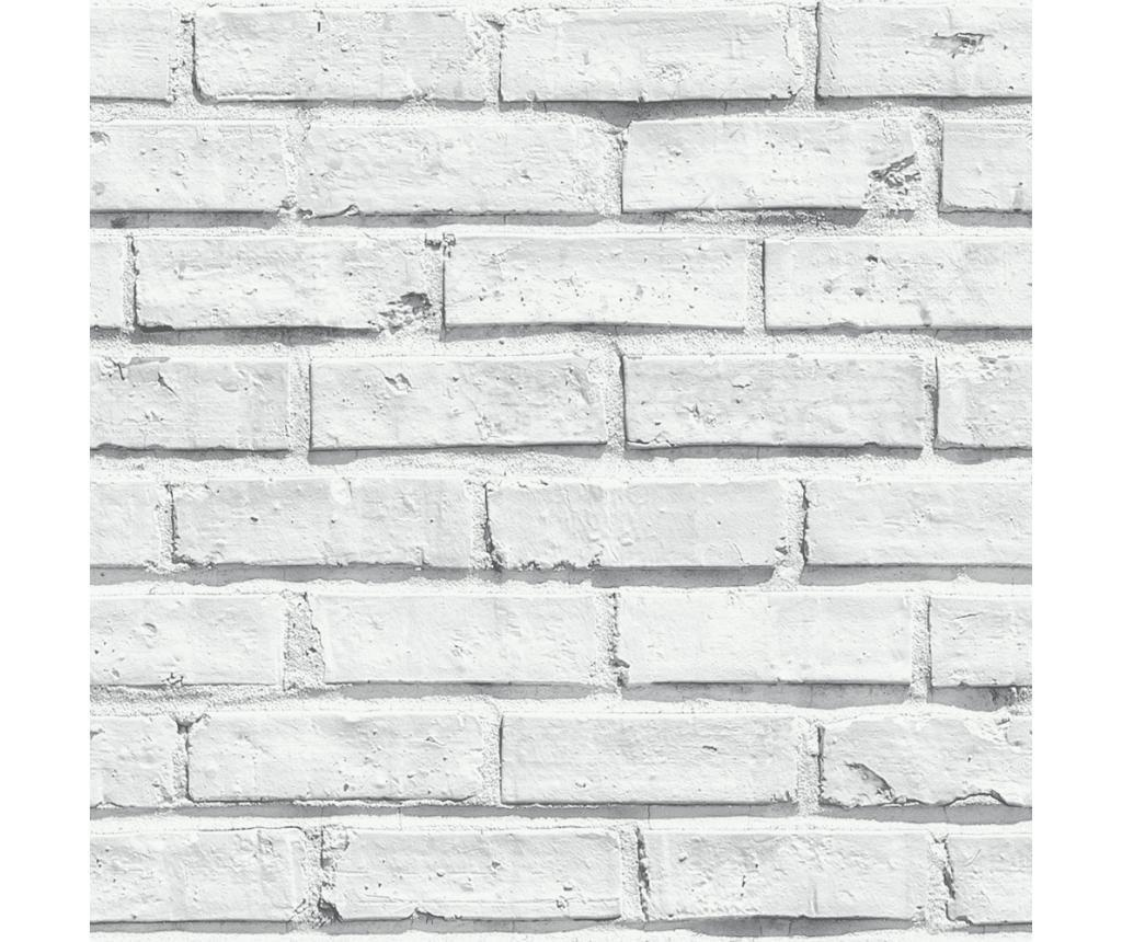 tapet white brick