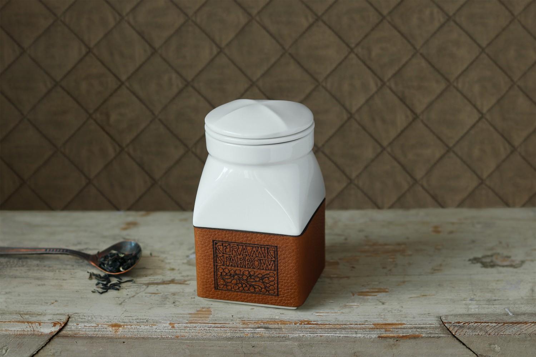 Ceainic alb din portelan Ceramic Sparrow (1)