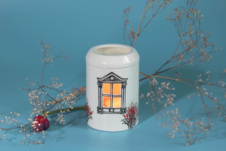 Lampa aromaterapie portelan Ceramic Sparrow (1)