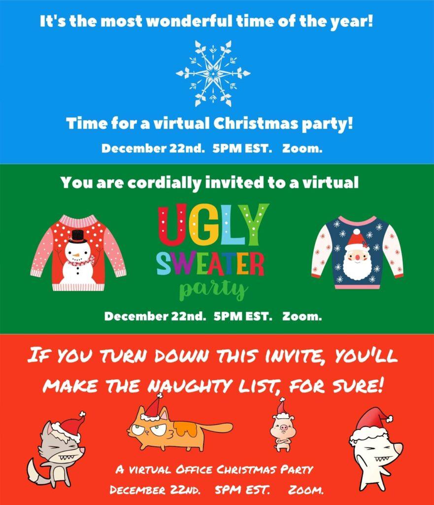 Exemple de invitații de Crăciun personalizate