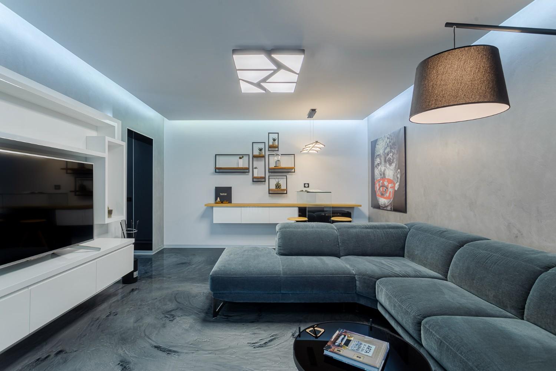 Living pardoseala epoxidica - renovare apartament Bucuresti - arhitect Alexandru Bucur Interiology (1)