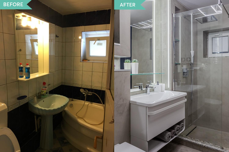 Renovare apartament Vitan arh. Alexandru Bucur Interiology - baie microciment (1)