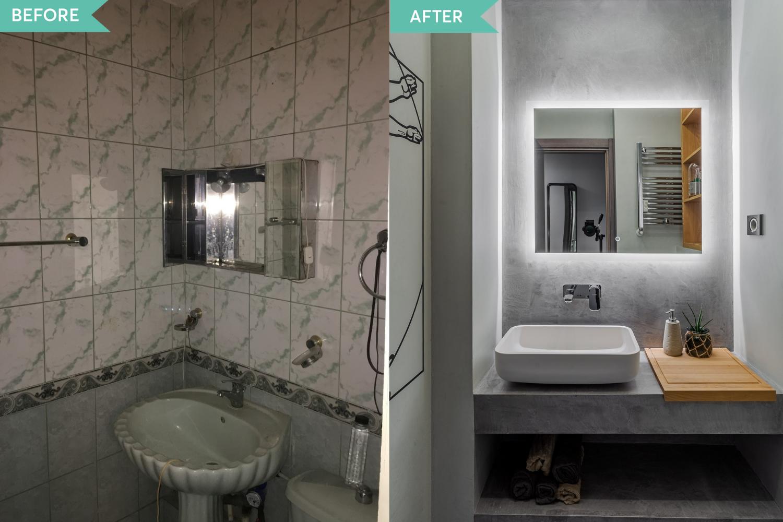 Renovare apartament Vitan arh. Alexandru Bucur Interiology - baie microciment (3)