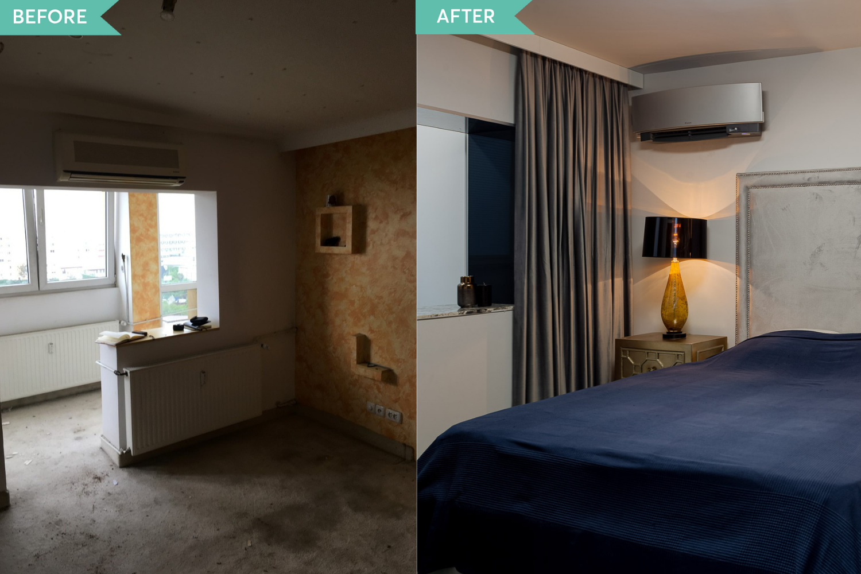Renovare apartament Vitan arh. Alexandru Bucur Interiology - dormitor matrimonial