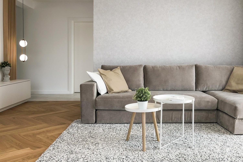 amenajare modernă - detaliu canapea