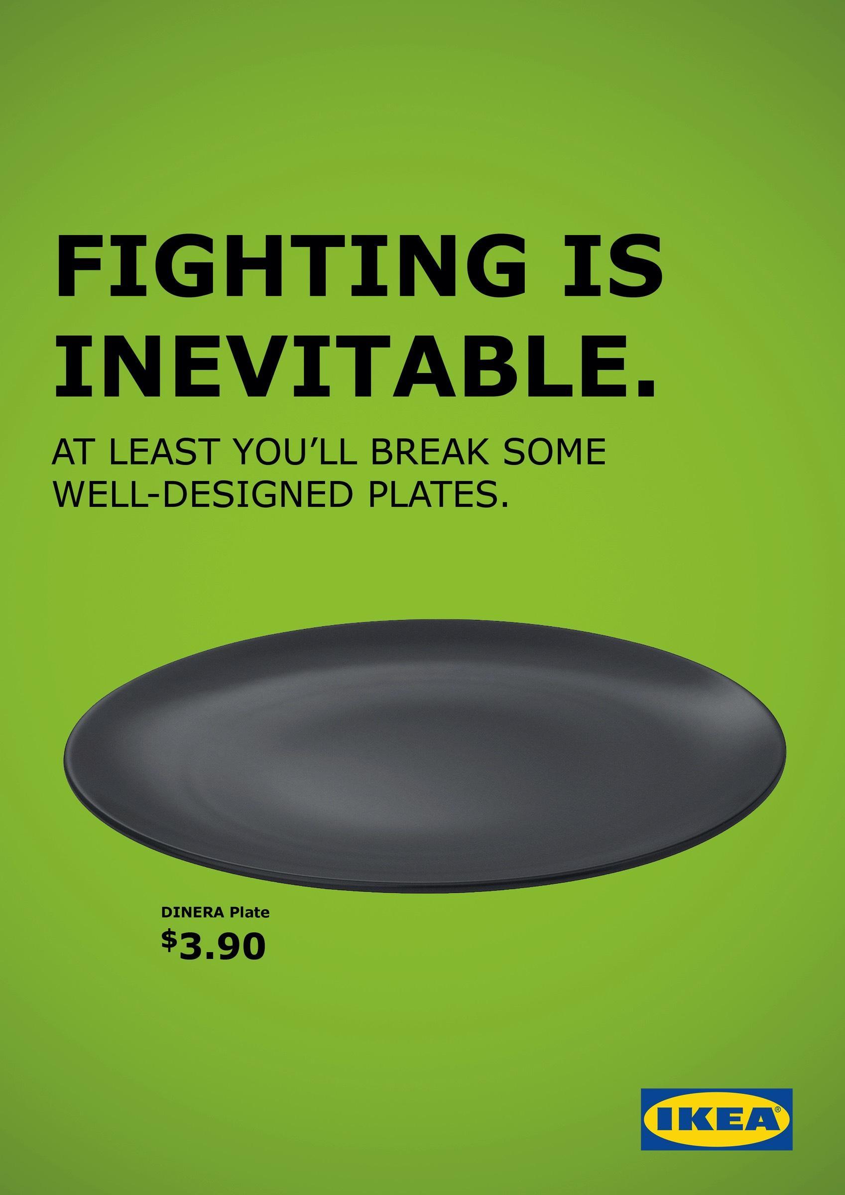 Campanie Ikea - «Fighting is inevitable»