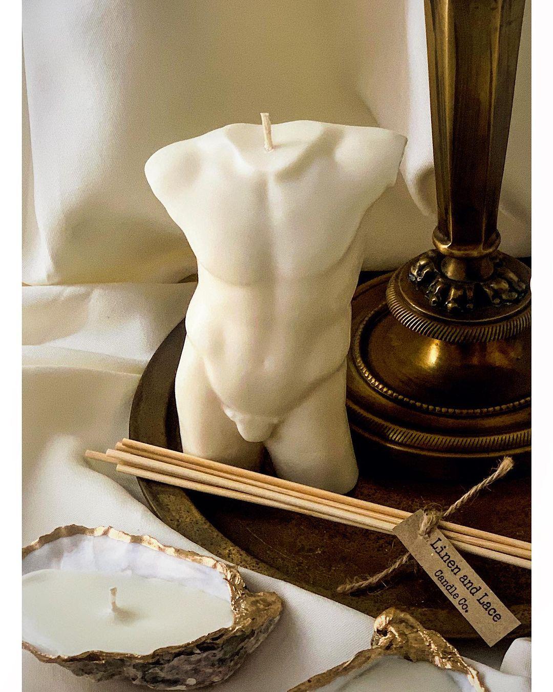 lumanari decorative bust barbat