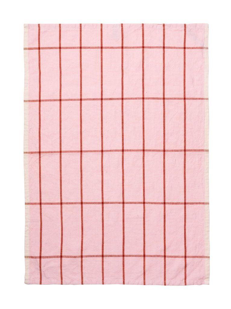 prosop de bucatarie roz