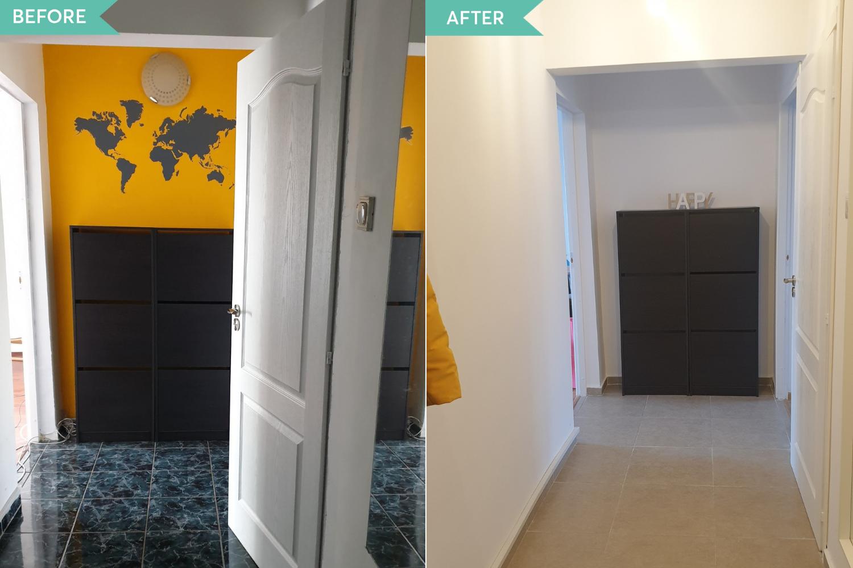 Before and after apartament Tineretului Bucuresti (2)