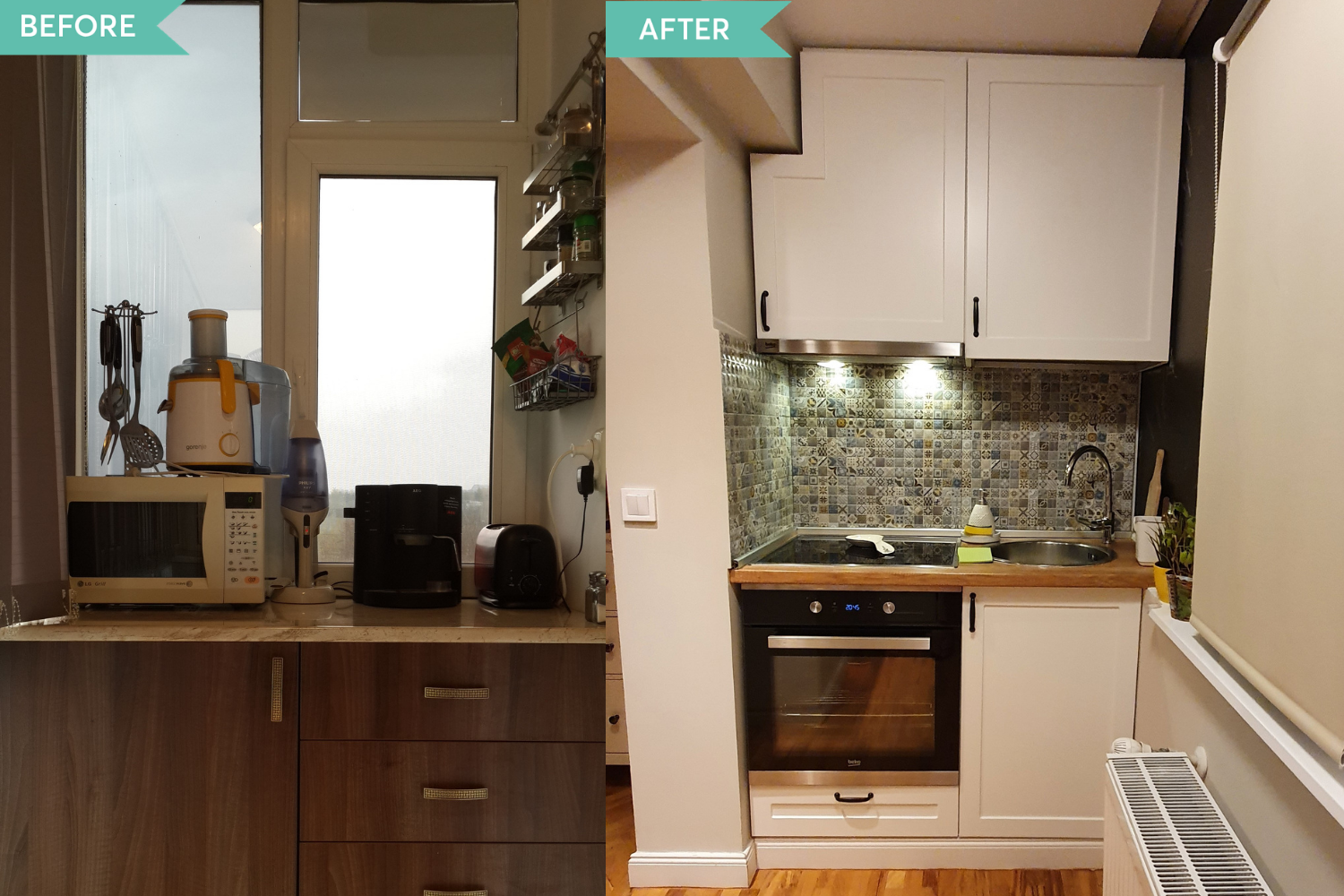 Before and after renovare Tineretului (2)