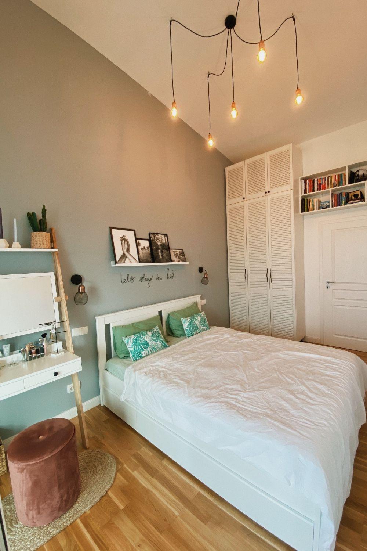 apartament la mansarda dormitor