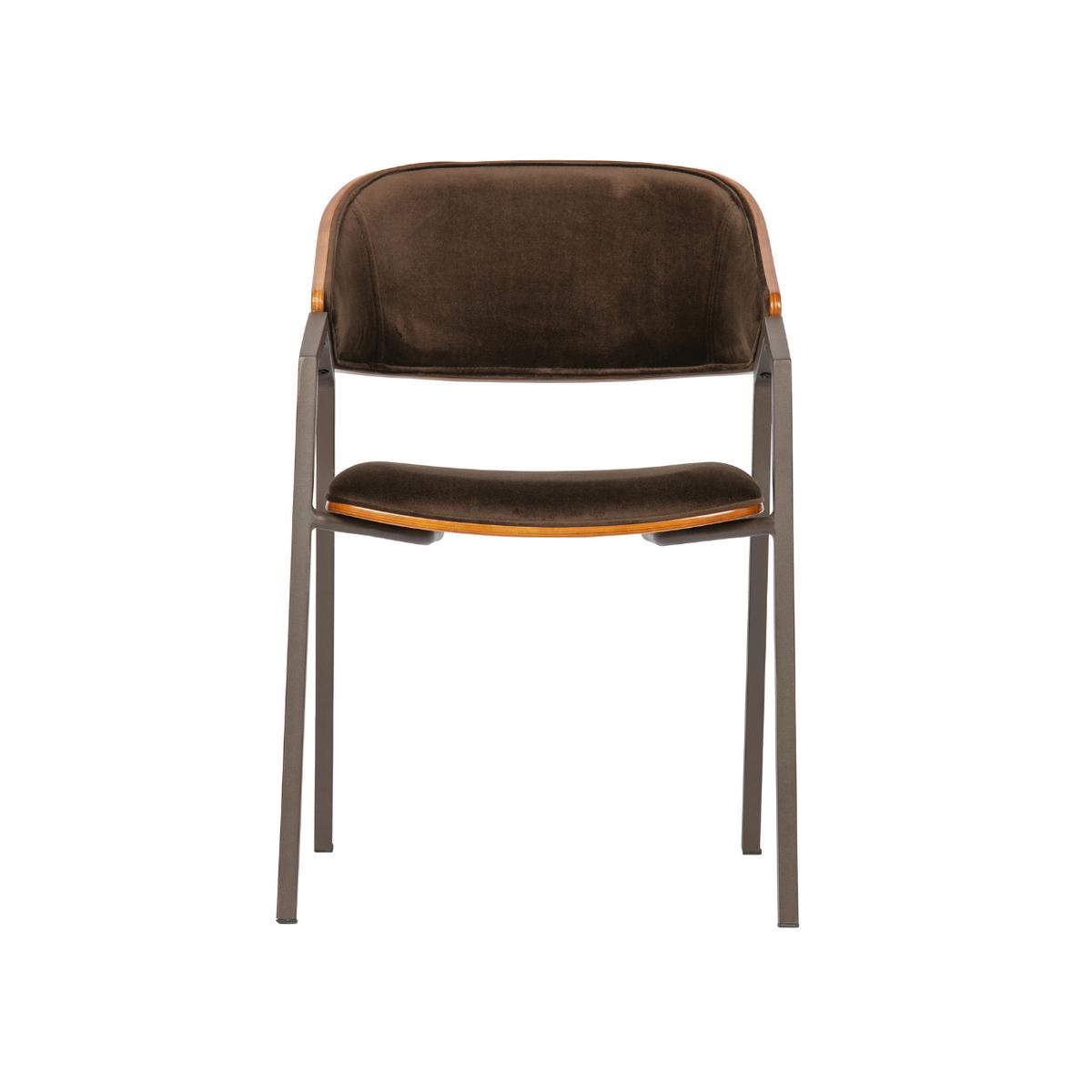 scaun catifea maro