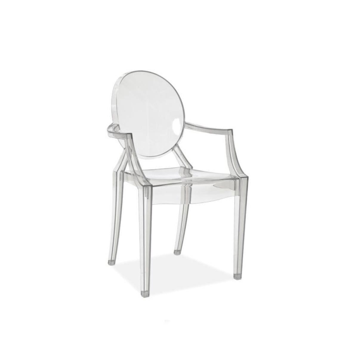 scaun din plastic transparent