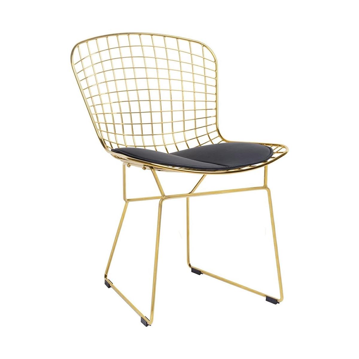 scaun metal auriu