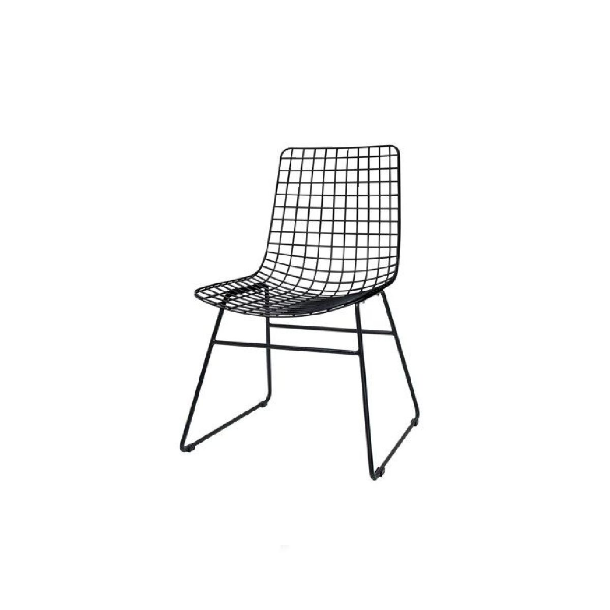 scaun metalic negru hk living