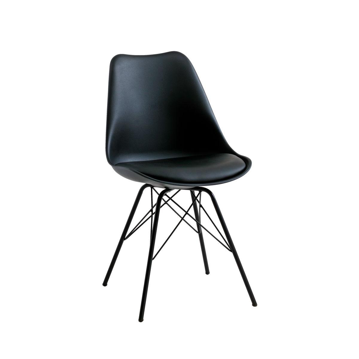 scaun negru plastic