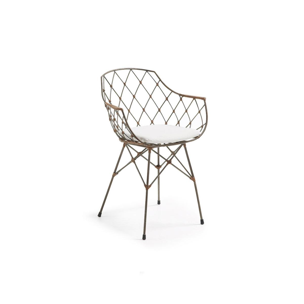 scaune dining metal si ratan endora