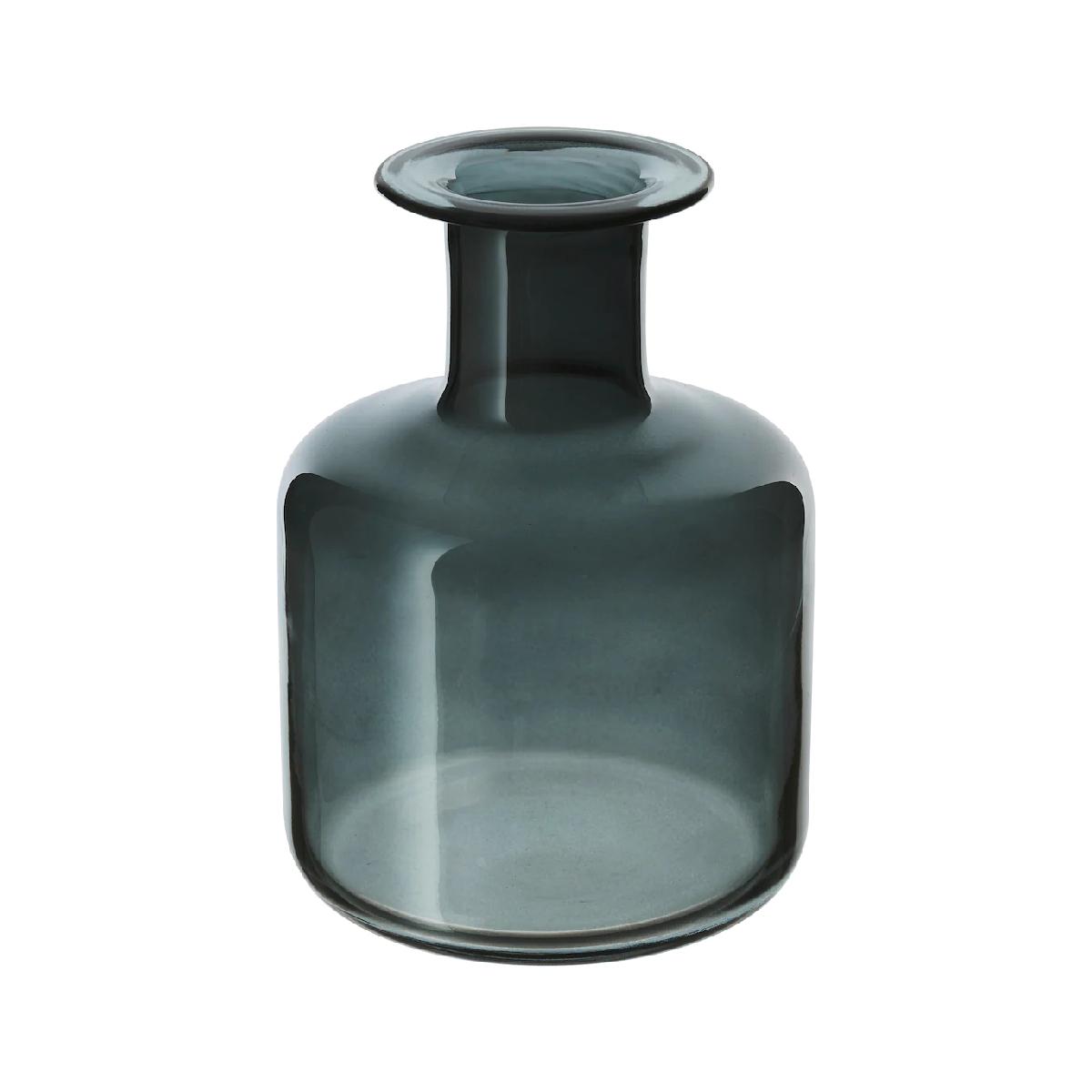 vaza sticla pepparkorn albastru