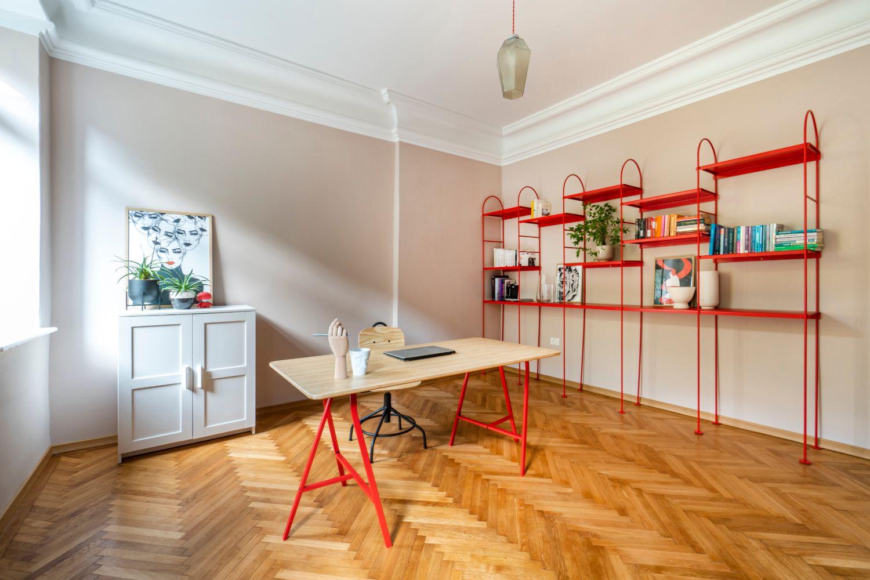 Birou - renovare apartament vechi Amzei Kanso Design arh. Andra Bica