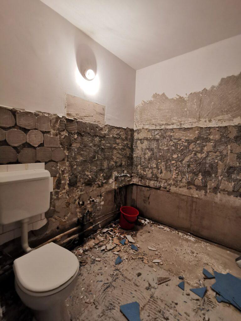 renovare baie șantier