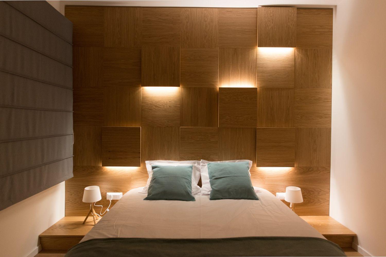 Dormitor perete placat cu MDF - Renovare apartament mic Bucuresti KiwiStudio (2)