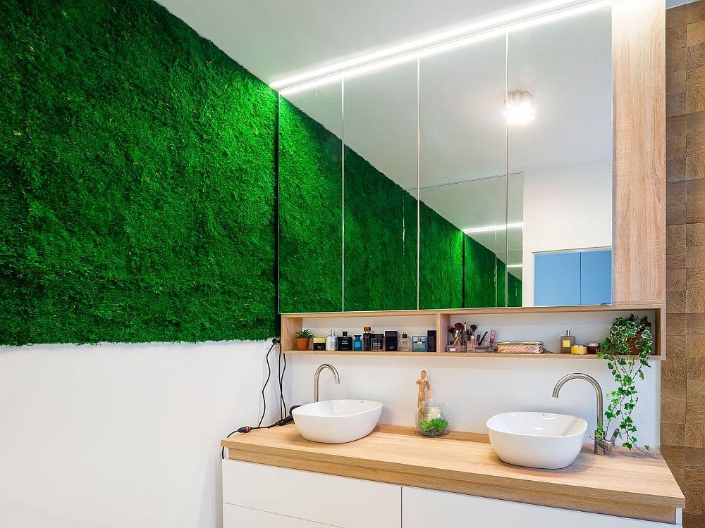 Licheni stabilizați baie perete