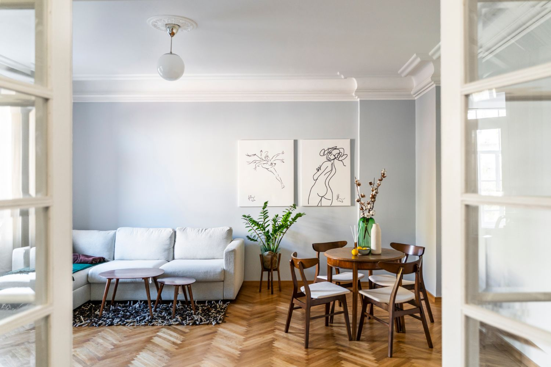 Living - renovare apartament vechi Amzei Kanso Design arh. Andra Bica