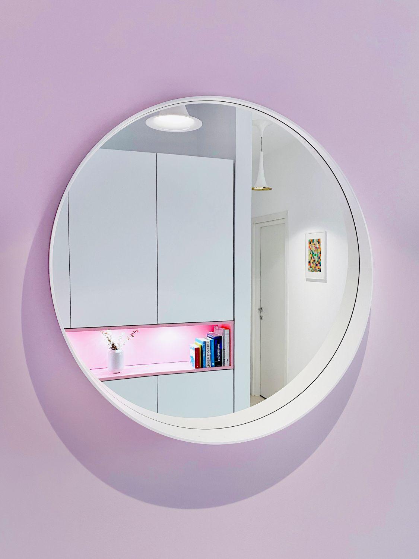 apartament pastelat oglinda bubble house