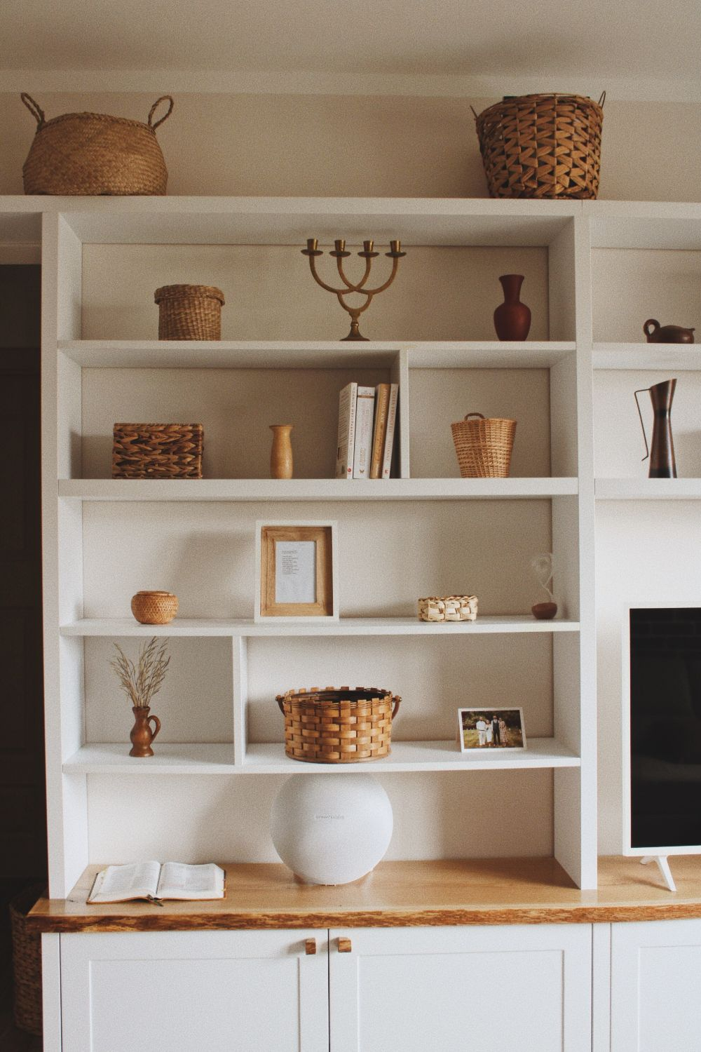 biblioteca living decoratiuni