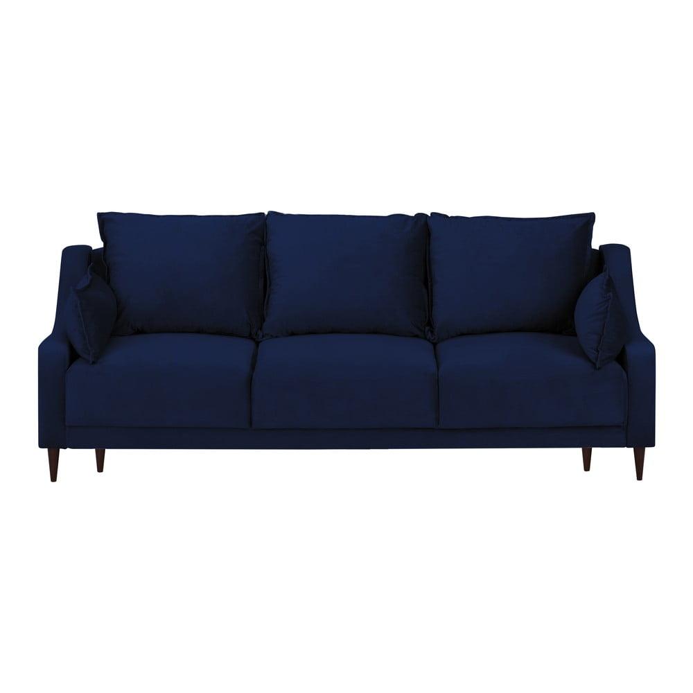canapea catifea albastra bonami