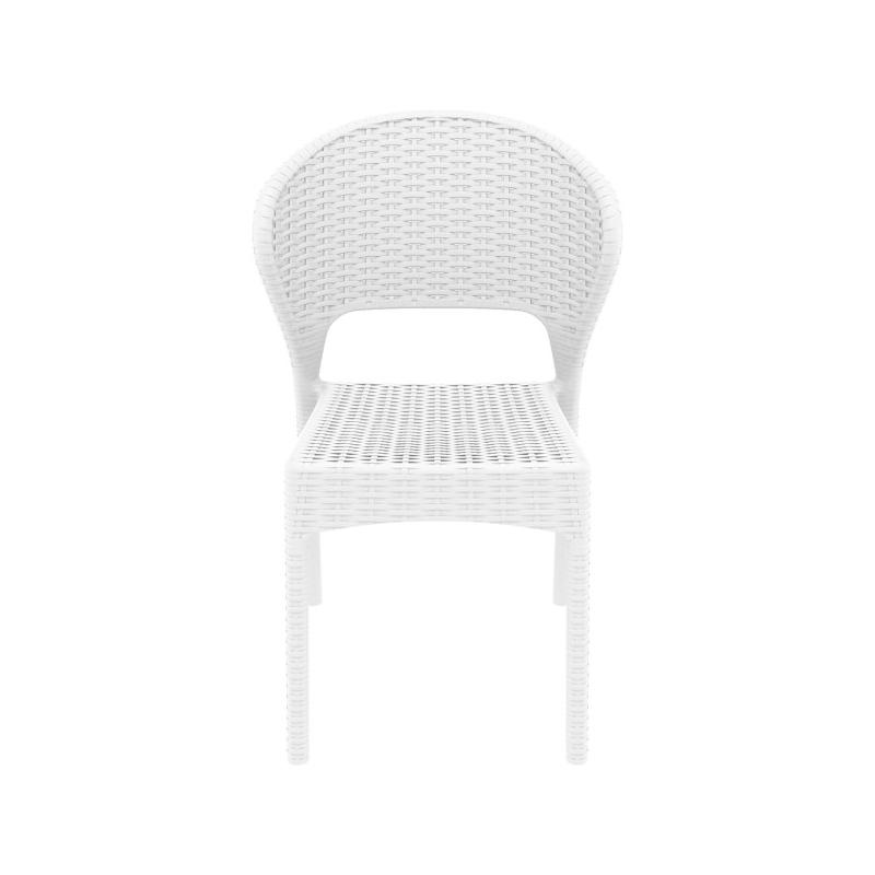 idei amenajare balcon mic scaun alb