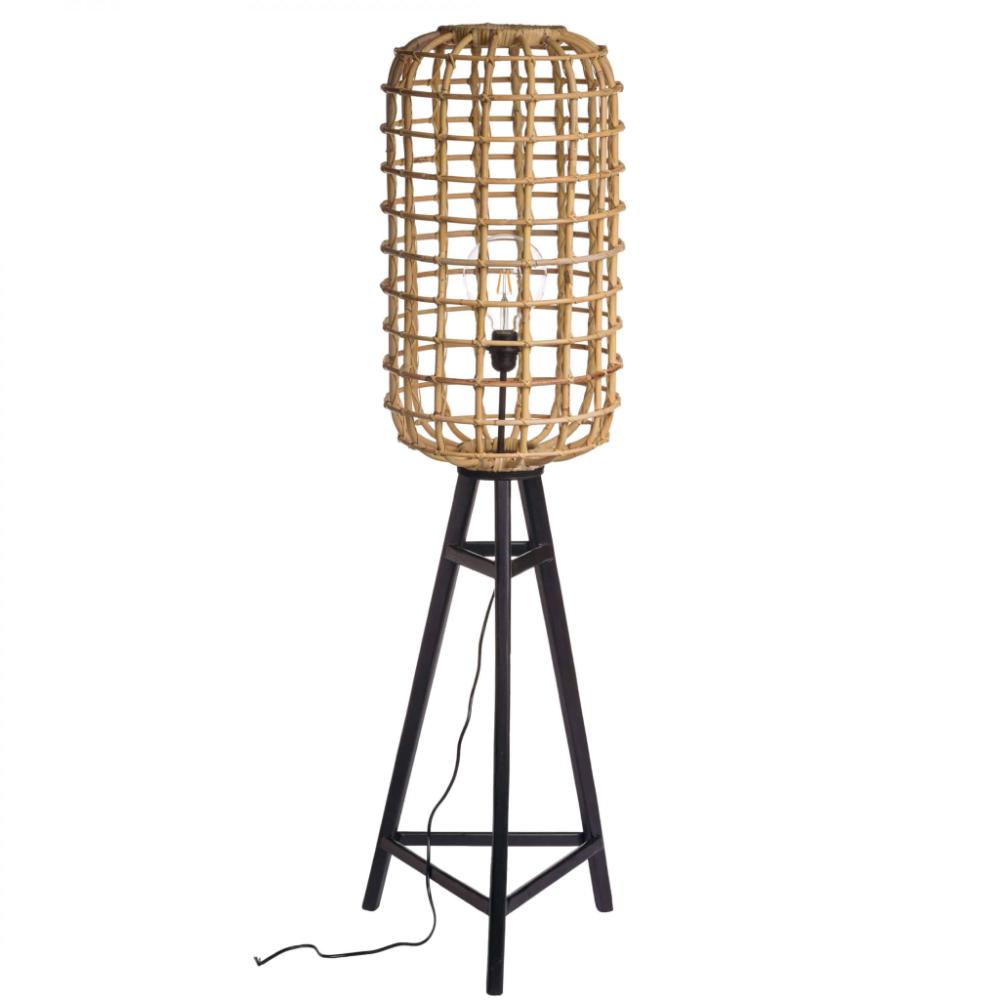 lampadar bambus de terasa