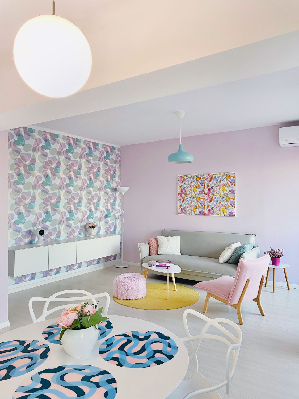 living colorat bubble house apartament doua camere bucuresti