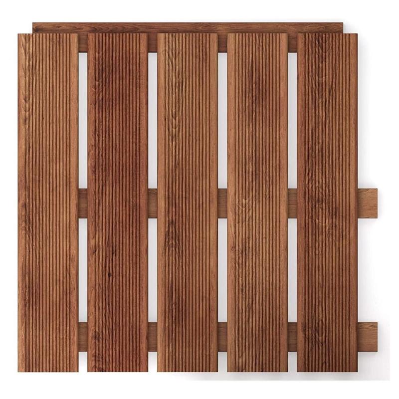 podea de gradina din lemn maro