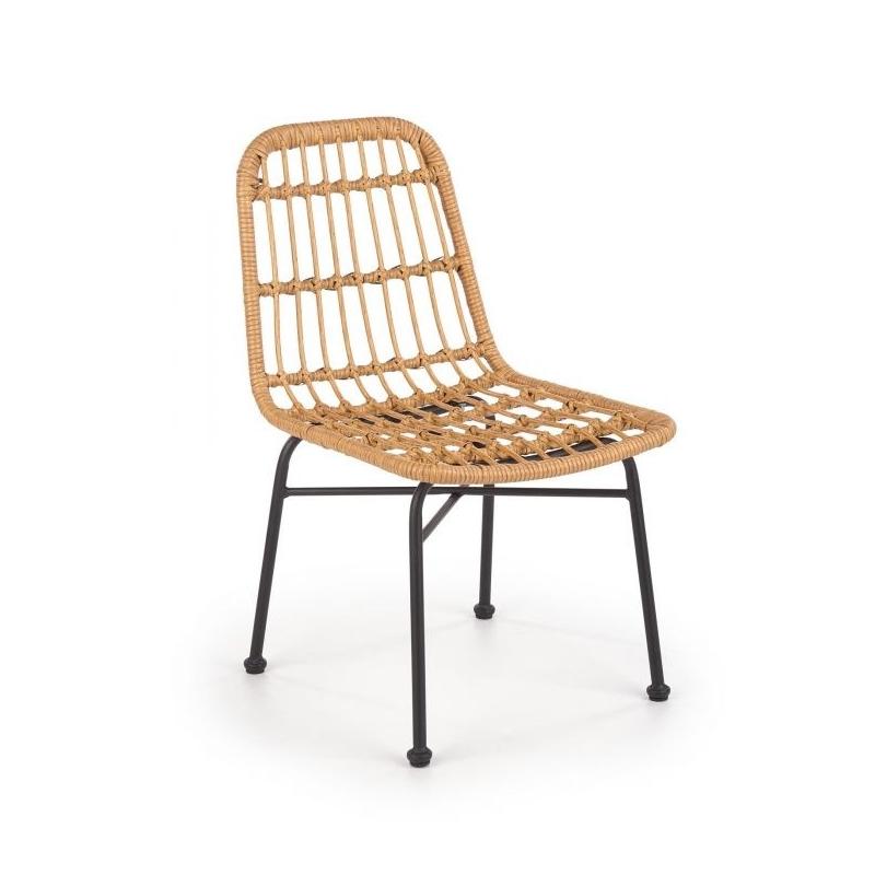 scaun din ratan cu picioare metalice