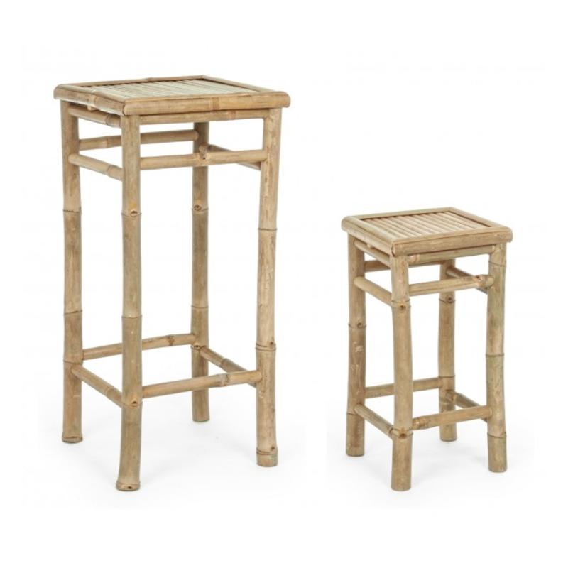 set masuta de cafea si scaun gradina bambus