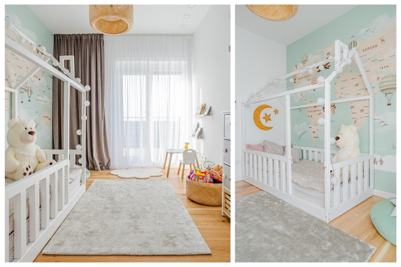 Idecorate amenajare camera bebe cu pat Montessori 2