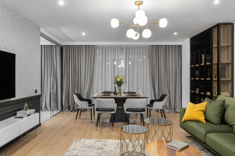 Living stil fusion canapea verde - design interior Pure Mess Design (3)